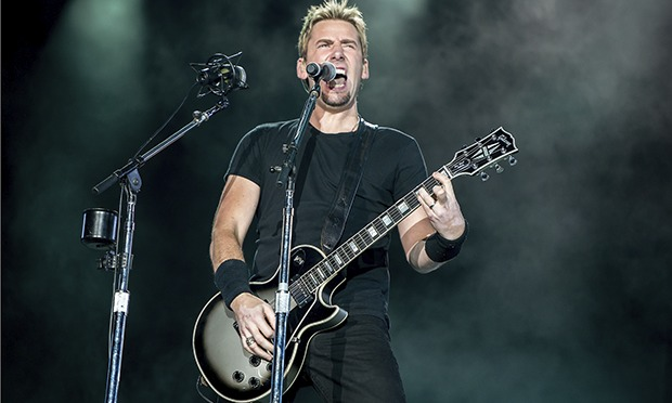 Nickelback's Chad Kroeger onstage at Rock in Rio 2013